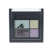 Šešėliai akims Manhattan Eyemazing Effect Eyeshadow Palette Cosmetic 15g 81D Pastel The Truth Šešėliai akims