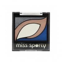 Šešėliai akims Miss Sporty Cats Eyes Palette Cosmetic 6g 004 Mineral Earth Šešėliai akims
