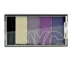 Šešėliai akims NYC New York Color HD Color Quattro Eye Shadow Cosmetic 6g 824 Central Park Lavender Šešėliai akims