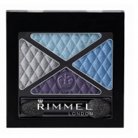 Šešėliai akims Rimmel London Glam Eyes Quad Eye Shadow Cosmetic 4,2g (003 Smokey Purple) Šešėliai akims