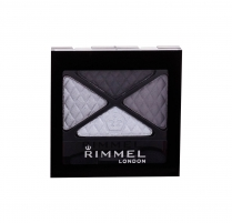 Šešėliai akims Rimmel London Glam Eyes Quad Eye Shadow Cosmetic 4,2g (Smokey Noir) Šešėliai akims