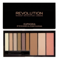 Šešėlių paletė Makeup Revolution Palette eye shadow and contour set Euphoria (Eye Shades & Contouring) 18 g Šešėliai akims