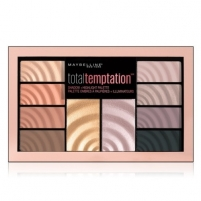 Šešėlių paletė Maybelline Total Temptation 12 g Eye Shadow and Brightener Palette Šešėliai akims