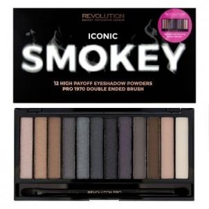 Šešėlių rinkinys Makeup Revolution Iconic Smokey (Eye Shadow Palette) 19 g