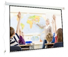 Sieninis ekranas Avtek Wall Electric 200, 205x158cm (200x150cm), 4:3. Plug&Play,