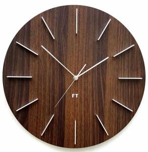 Sieninis laikrodis Future Time Round Dark Natural Brown FT2010WE Interjero laikrodžiai, metereologinės stotelės