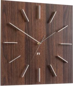 Sieninis laikrodis Future Time Square Dark Natural Brown FT1010WE Interjero laikrodžiai, metereologinės stotelės
