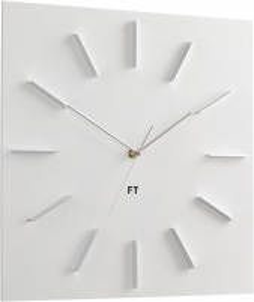 Sieninis laikrodis Future Time Square White FT1010WH Interjero laikrodžiai, metereologinės stotelės