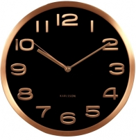 Sieninis laikrodis Karlsson KA5578BK Interjero laikrodžiai