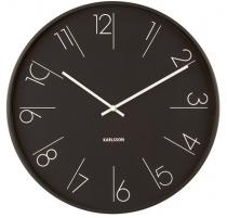 Sieninis laikrodis Karlsson KA5607BK Interjero laikrodžiai