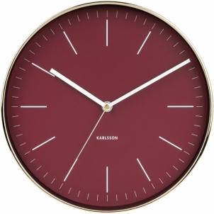 Sieninis laikrodis Karlsson KA5695RD Interjero laikrodžiai