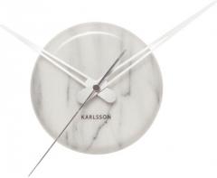 Sieninis laikrodis Karlsson Marble Dot KA5535WH Interjero laikrodžiai