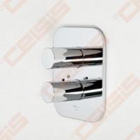 Sienoje montuojamo termostatinio vonios ir dušo maišytuvo išorinė dekoratyvinė dalis IL BAGNO ALESSI Dot by Oras