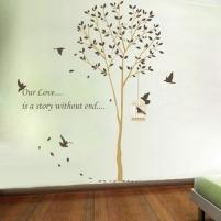 Sienos lipdukas Meilės medis, 160x165 cm Prekės namų interjerui