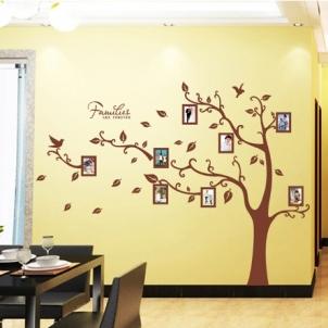 Sienos lipdukas Šeimos Nuotraukų Medis, 160x216 cm