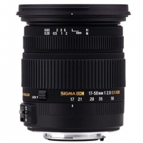 Sigma AF 17-50mm F2.8 EX DC OS HSM for Canon, 17 Elements in 13 Groups, Angle of View: 72.4-27.9 degrees, 7 Blades