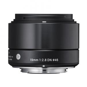 Sigma EX 19mm F2.8 DN for Sony Nex, Black Lēcas