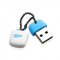 SILICON POWER 16GB, USB 2.0 FLASH DRIVE, TOUCH T07, Blue Flash atmintinės