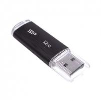 SILICON POWER 32GB, USB 2.0 FLASH DRIVE ULTIMA U02, BLACK