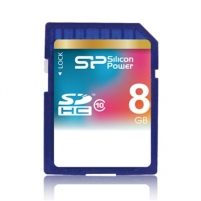 SILICON POWER 8GB, SDHC SECURE DIGITAL CARD, CLASS 10