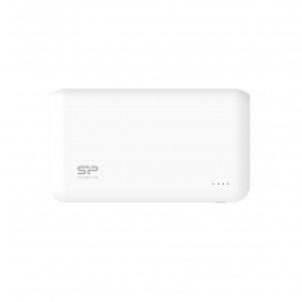 Silicon Power S100 Power Bank 10000mAH, dual output USB, LED, White