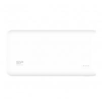 Silicon Power S200 Power Bank 20000mAH, dual output USB, LED, White