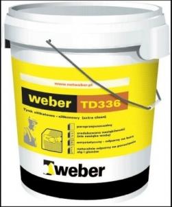 Silicate-silicone plaster Weber TD336 ruggeds K/2 30kg Decorative renders/plasters