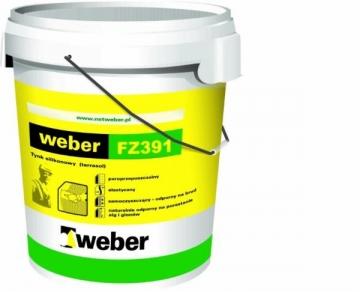 Dažai fasadiniai, silikoniniai, balti Weber FZ391, 10 KG Emulsiniai dažai