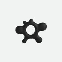 Silikoninis žiedas Dėmė (juodas)