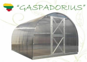 Šiltnamis Gaspadorius( 34.44 m2) 12000x2870x2250 su 4mm polikarbonato danga Šiltnamiai
