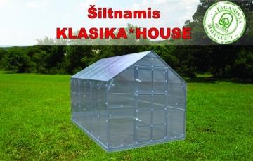 Šiltnamis HOUSE*KLASIKA 3 (7,45m2) 2350x3170 su 6mm polikarbonato danga Šiltnamiai