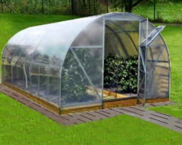 Greenhouse surenkamas 3000x8000x2100 su 4 mm PK danga
