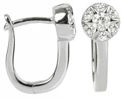 Silver Cat sidabriniai earrings with cirkoniu SC208