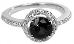 Silver Cat sidabrinis ring su kristalu SC163 (Dydis: 52 mm)