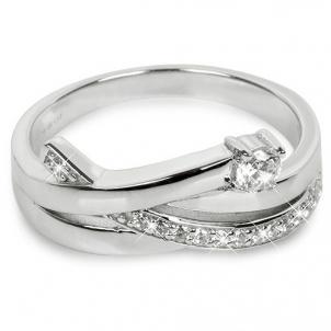 Silver Cat ring su cirkoniu SC203 (Dydis: 54 mm)