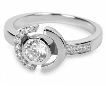Silver Cat žiedas su kristalais SC079 (Dydis: 56 mm)