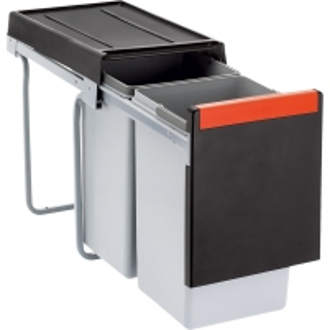 Šiukšliadėžė FRANKE Cube 30, atidarymas ranka, 20l.+10l. Kitchen trash cans