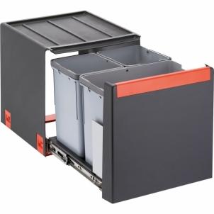 Šiukšliadėžė FRANKE Cube 40, automatinis atidarymas, 14l.+2x7l. Virtuvės šiukšliadėžės