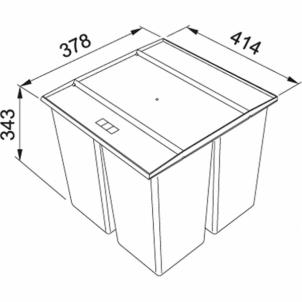 Šiukšliadėžė FRANKE Sorter 745 KickMatic, 18l.+2x8l. Kitchen trash cans