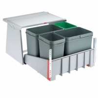 Šiukšliadėžė FRANKE Sorter 760 Motion, švelnus uždarymas, 2x18l.+2x8l. Virtuves trash kannas