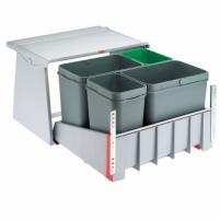 Šiukšliadėžė FRANKE Sorter 760 Motion, švelnus uždarymas, 2x18l.+2x8l. Kitchen trash cans