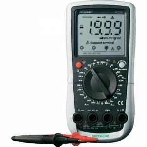 Skaitmenininis multimetras VOLTCRAFT VC250 Green Line 2000 counts CAT III 600 V Skaitmeniniai multimetrai