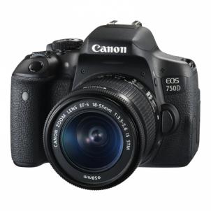 Skaitmeninis veidrodinis fotoaparatas 750D 18-55 IS Skaitmeniniai veidrodiniai fotoaparatai