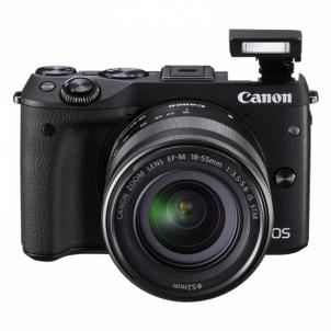 Skaitmeninis veidrodinis fotoaparatas EOS M3 M18-55 S Digitālās slr fotokameras