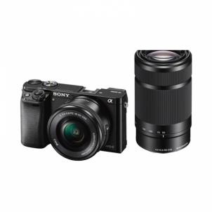 Skaitmeninis veidrodinis fotoaparatas ILCE-6000YB 16-50mm + 55-210mm Skaitmeniniai veidrodiniai fotoaparatai