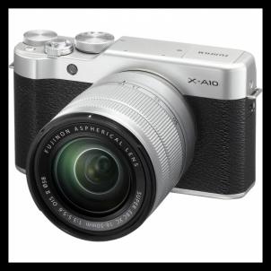 Skaitmeninis veidrodinis fotoaparatas X-A10 XC16-50 Silver Skaitmeniniai veidrodiniai fotoaparatai