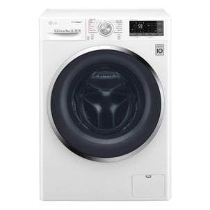 Washing machine LG TrueSteam washing mashine F4J8VS2W Front loading, Washing capacity 9 kg, 1400 RPM, Direct drive, A+++, Depth 56 cm, Width 60 cm, White, Steam function