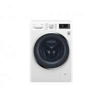 Washing machine LG Washing machine with dryer F4J8JH2WD Eco Hybrid™ Front loading, Washing capacity 10.5 kg, Drying capacity 7 kg, 1400 RPM, Direct drive, A, Depth 61 cm, Width 60 cm, White, Steam function, LED, Drying system, Display, Wi-Fi