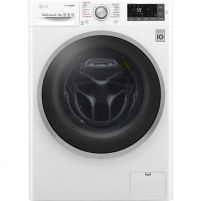 Skalbimo mašina LG Washing mashine with dryer F4J7TH1W Front loading, Washing capacity 8 kg, Drying capacity 5 kg, 1400 RPM, Direct drive, A, Depth 60 cm, Width 60 cm, White, Steam function, Display, LCD, Drying system Skalbimo mašinos