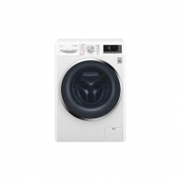 Washing machine LG Washing mashine with dryer F4J8JH2W Front loading, Washing capacity 10.5 kg, Drying capacity 7 kg, 1400 RPM, Direct drive, A, Depth 61 cm, Width 60 cm, White, LED, Steam function, Display, Drying system Washing machines